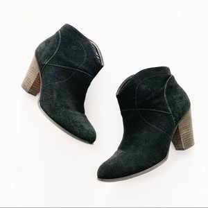 Sole Society Alba Suede Black Booties Size 8